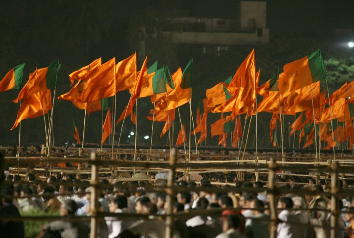 BJP and Shiv Sena flags Image Flickr Al Jazeera English