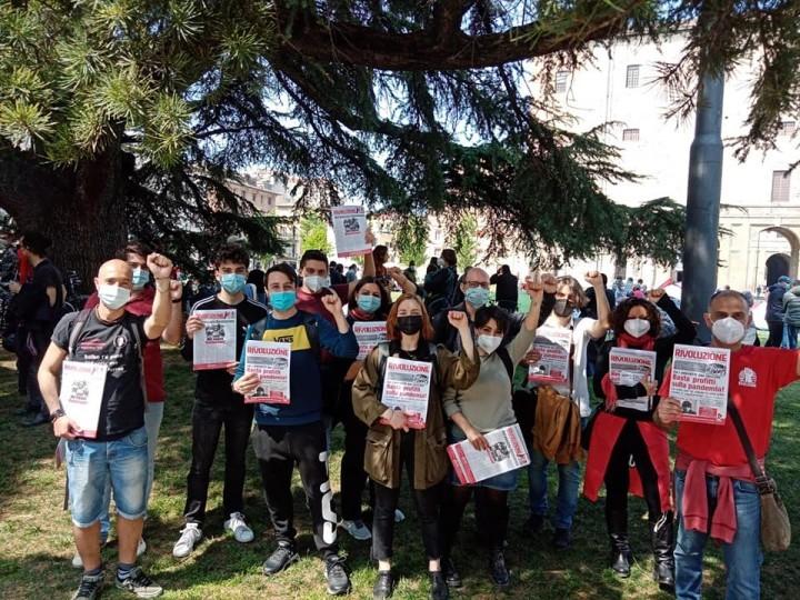 帕爾馬的同志們參加了4月25紀念日游行,紀念從納粹占領下解放出來。//圖片來源:SCR, IMT Italy