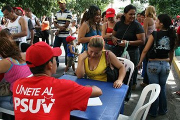 Joining the PSUV