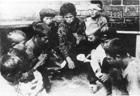 Streetkids RussianCivilWar Image public domain