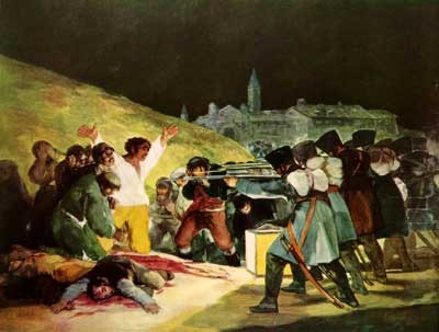 Goya: The Execution of the Defenders of Madrid (1814)