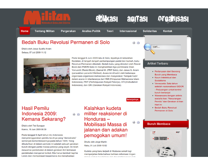 Indonesia: The launch of Militan website