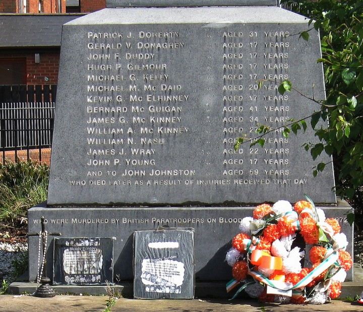 Bloody Sunday memorial Image Flickr nicksarebi