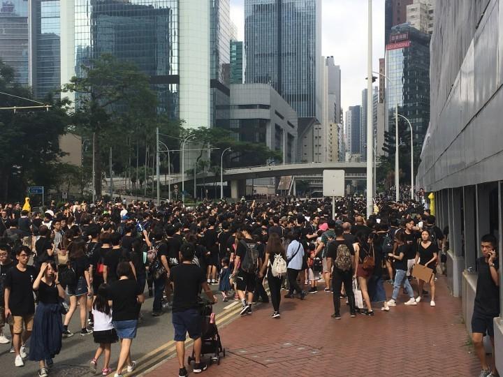 香港運動的潛力是被其資產階級自由派領導和訴求,而不是中共本身的力量所牽制。//圖片來源:楊進