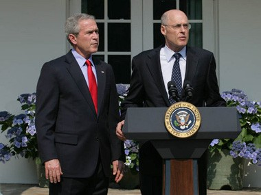 George Bush and Henry Paulson