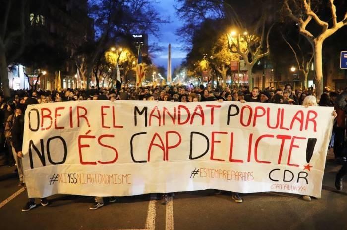 Catalan protest Image CUP Sant Martí