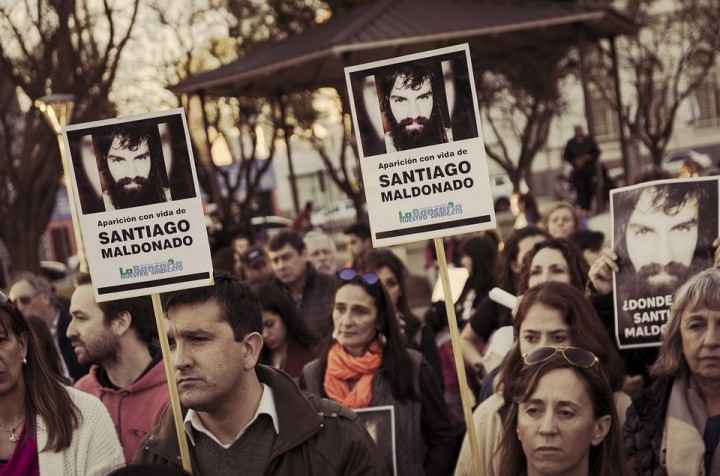 The body of activist Santiago Maldonado was found in the Chubut River in Argentina Image MonoRenal