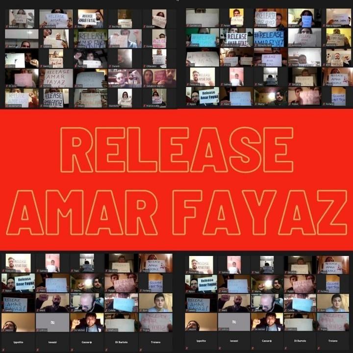 本次大會要求巴基斯坦當局釋放我們一個月前在當地被「失蹤」的同志。//圖片來源:SCR