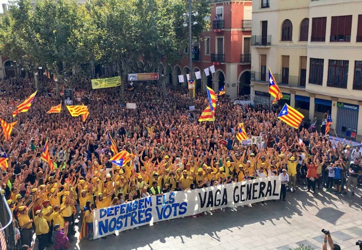 Catalonia CUP general strike