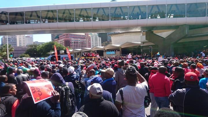 COSATU protest in Cape Town Image Discott