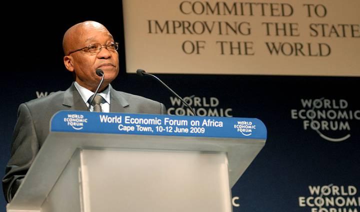 Jacob Zuma 2009 WEF Matthew Jordaan