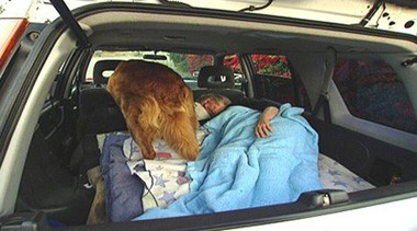 Car sleeper in California
