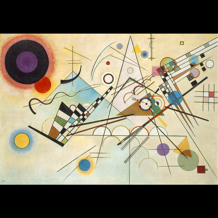 Composition 8, huile sur toile by Kandinsky - Photo: Public Domain