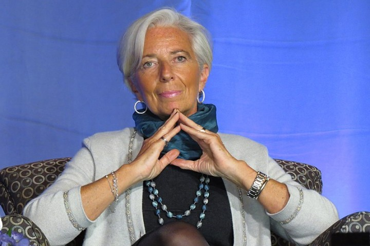Christine Lagarde at Albright Institute public forum Image Brinacor