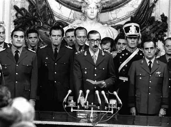 Jorge Rafael Videla and the military junta Image public domain