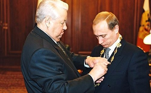 Yeltsin and Putin transfer power Image Kremlin