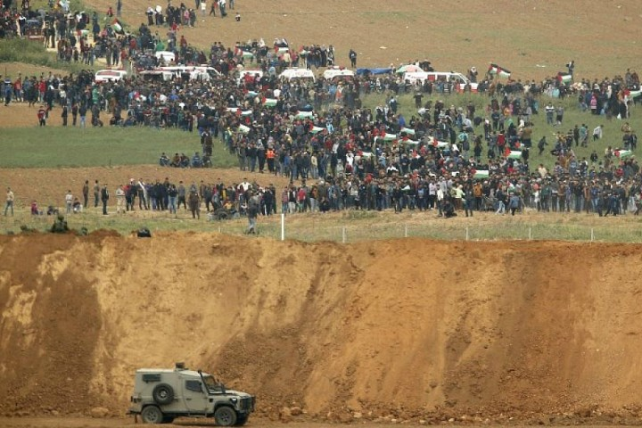Gaza border protest 2018 Image fair use