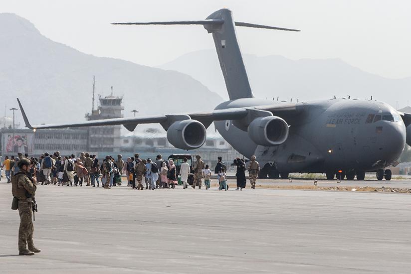 Afghanistan Evacuation Image U S Marine Corps Sgt Samuel Ruiz