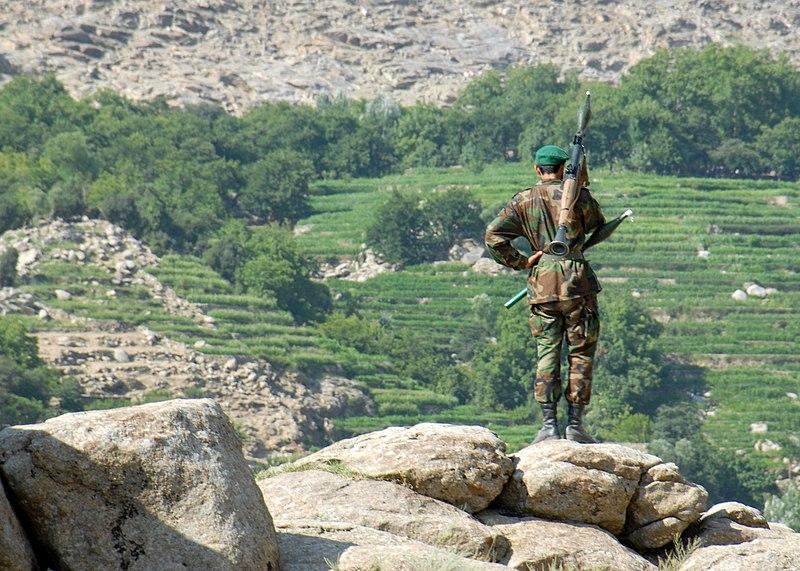 阿富汗軍隊的官方人數為30萬,其中充滿了所謂「幽靈士兵」,他們只是作為地方指揮官從政府那裡吸走現金的一種詭計而存在於紙面上的人頭。//圖片來源:公共領域