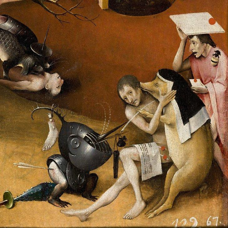 Hieronymus bosch and the art of the death agony of feudalism for Bosco el jardin de las delicias