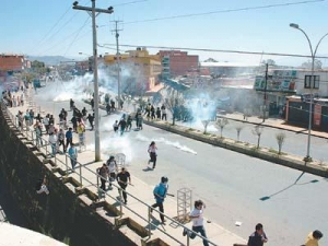 Orgy of fascist violence in Bolivia