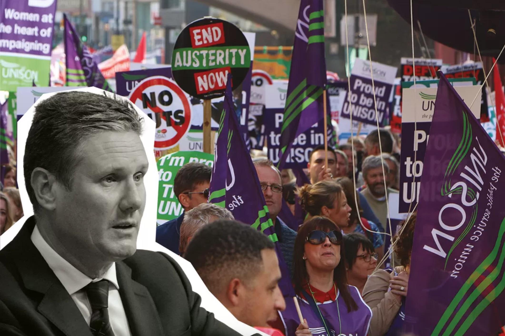 工党的右翼将变得越来越不受欢迎,因为工人们会远离该党,并期待工会为他们的利益而斗争。//图片来源:英国《社会主义呼唤报》