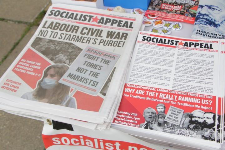 """斯塔默无意营造""""党内团结没有兴趣,尽管他过去曾承诺过要达成这点。//图片来源:英国《社会主义呼唤报》"""