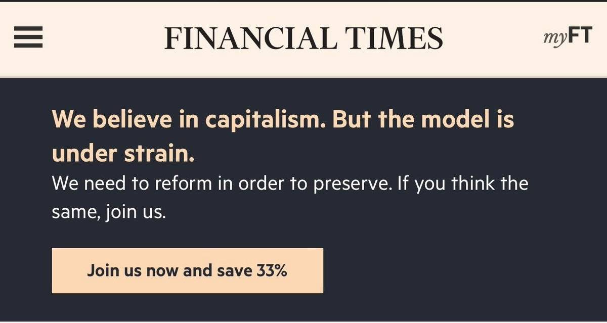 FT believe in capitalism Screenshot Financial Times