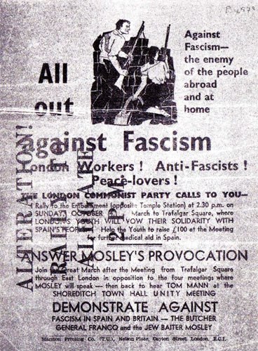 "Poster: ""All out against fascism"""