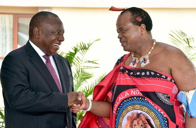 Ramaphosa Kim Mswati III Image GovernmentZA Flickr