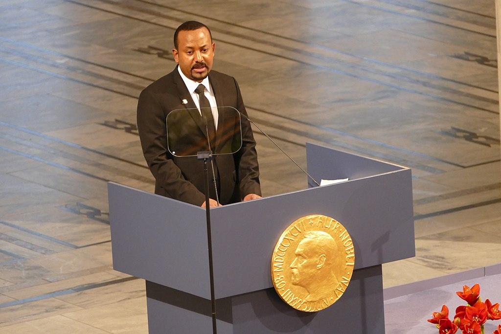 Abiy Ahmed receiving the Nobel Peace Prize Image Bair175 wikimedia