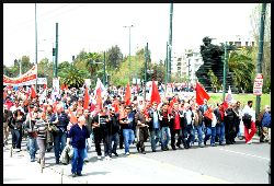 KKE May demonstration. Photo: mediActivista