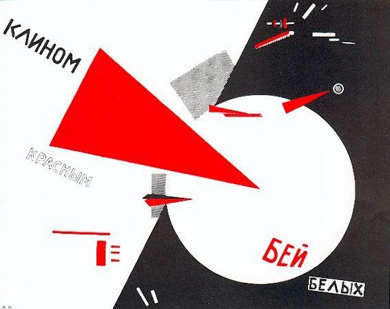 Beat the Whites with the Red Wedge by El Lissitzky - Photo: Public Domain