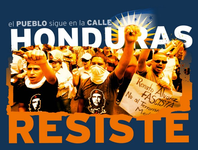 Honduras resist, design by Resistencia Morazán Blog