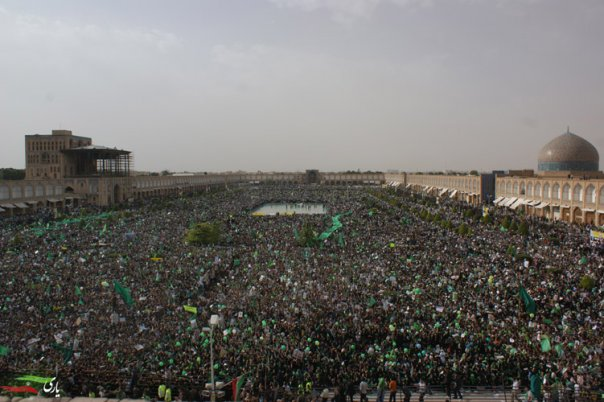 Mass rally in Iran.