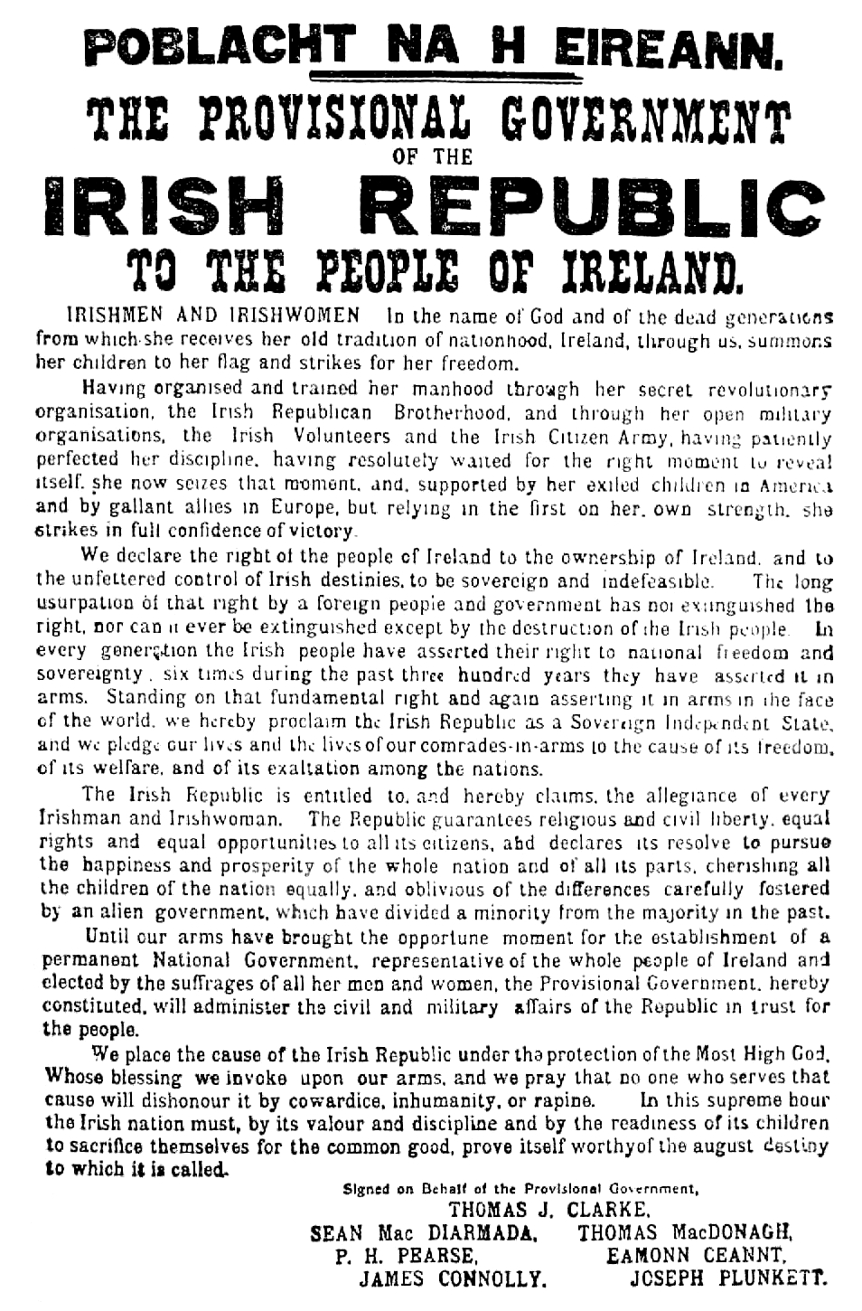 Proclamation of the Easter Rising