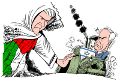 Against the blanket boycott of Israel - for a working class solution. Drawing by Latuff.