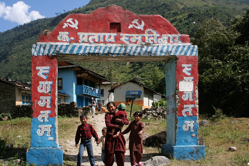 Nepal maoist checkpoint - Photo:Pavel_Novak
