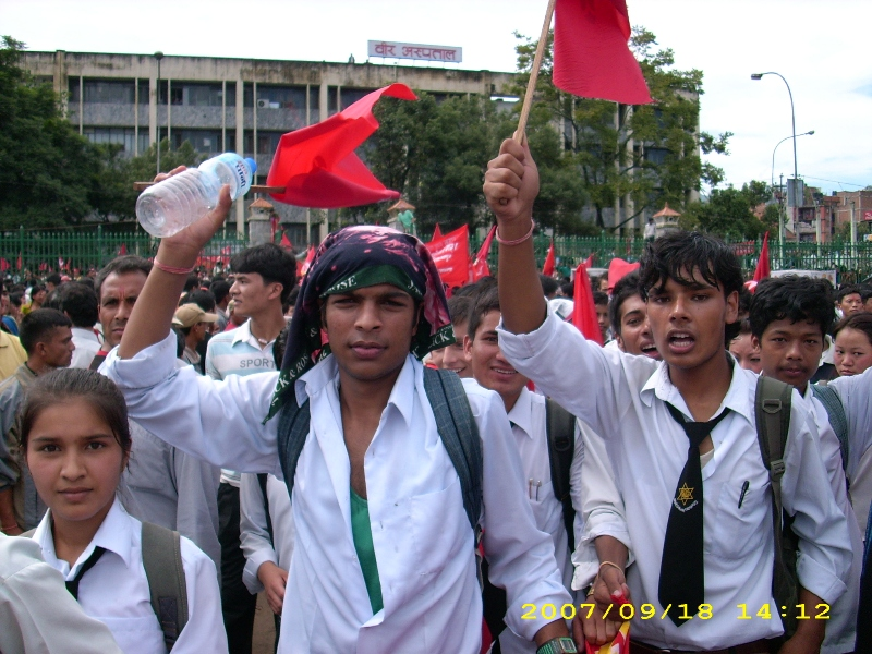 If the Communists overthrew Capitalism in Nepal they would become a becon for workers and peasants around the world. Photo by Kamred Hulaki.