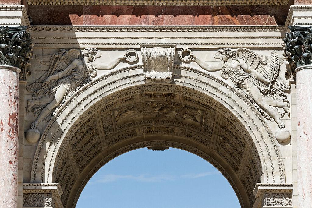 通过与建筑拱肩的类比,陆文顿和古尔德展示了意外和偶然性在物种演化中发挥的重要作用。//图片来源:Thesupermat, wikimedia commons