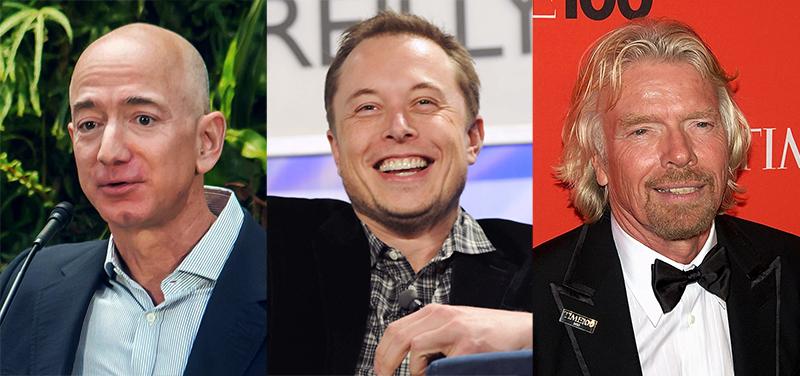 Bezos, Musk och Branson utkämpar en narcissistisk strid om att bli de första kapitalisterna att öppna upp rymden för turism, medan kapitalismens kris orsakar skräck och elände för hundratals miljoner människor – som bara kan titta på medan denna obscena uppvisning äger rum. / Bild: wikimedia commons