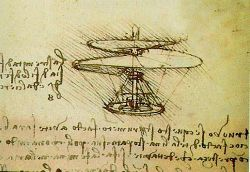 Da Vinci's anticipation of the helicopter