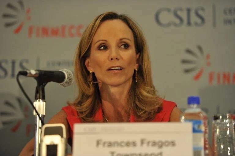 """而動視暴雪公司事務執行副總裁及布什政府前國土安全顧問弗朗西斯·湯森(Frances Townsend)則向員工散發了一份備忘錄,生氣的稱政府的訴訟是""""毫無根據""""的。//圖片來源:美國戰略與國際問題研究中心(CSIS),Flickr"""