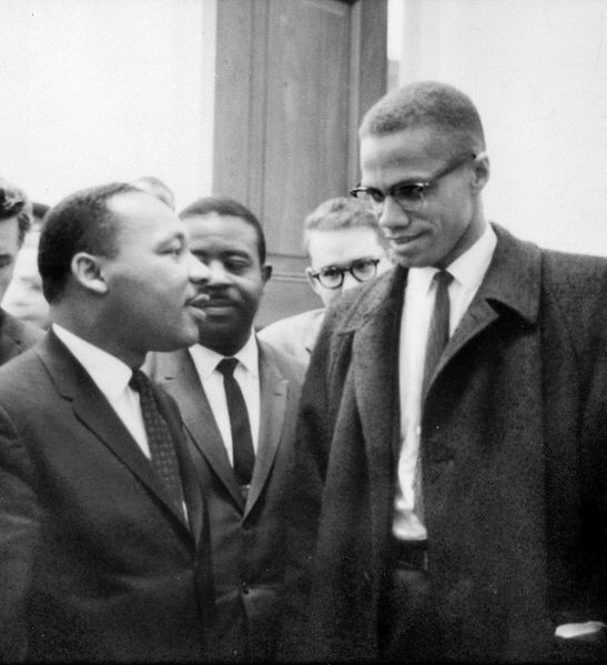MLK and Malcolm X Image Marion S. Trikosko