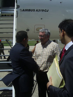Hugo Chávez y Alan Woods, 2008.